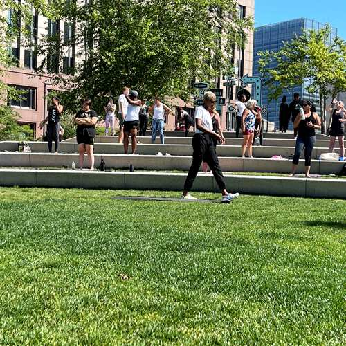 Yoga on The Green presented by FACTEUR PR with Valerie Williams