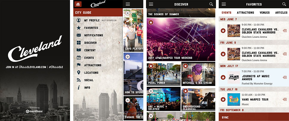 Destination Cleveland App Screenshots